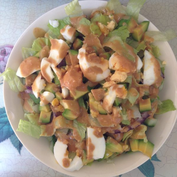 Caesar Salad with healthy dressing